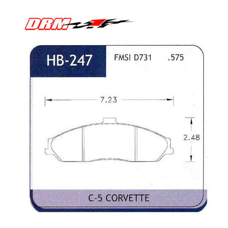 Picture for category C6 Brake Pads (Base Calipers)