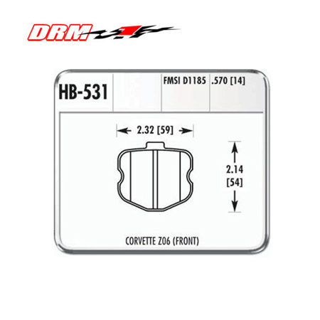 Picture for category C6 Brake Pads (Z06 and Grandsport)