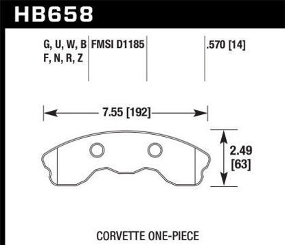 Picture of Hawk Front HPS 5.0  (One piece)