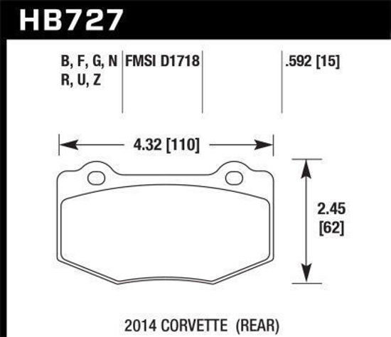 Picture of Hawk C7 Rear HPS Brake Pads
